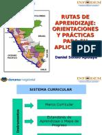 Rutas de Aprendizaje Orientaciones y Practica Para Su Aplicación