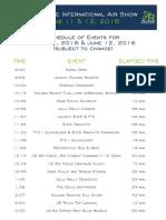 Airshow Schedule