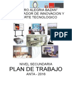 Plan de Trabajo y Capacitacion Coordinador de Innovacion y Soporte Tecnologico