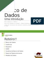 1 - Introdução à Banco de Dados TADS_BD