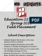 holland heights field placement presentation
