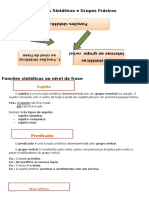 Funções Sintáticas e Grupos Frásicos