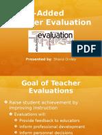 outcome 4- value added teacher evaluation