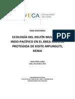 ECOLOGÍA DEL DELFÍN MULAR DEL INDO-PACÍFICO EN EL ÁREA MARINA PROTEGIDA DE KISITE-MPUNGUTI, KENIA