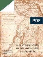 """LA TRAITE DES ESCLAVES VERS LES MASCAREIGNES AU XVIII"""" SIÈCLE"""