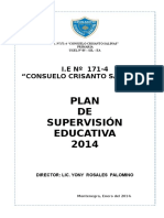 Plan de Supervisión Educativa i.e 171-4 2014