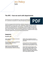 how does the rpc work with departments