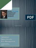 validation data - lifecycle risk management