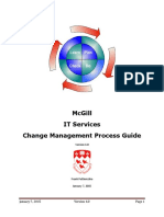 McGill IT Services Change Management Process Guide