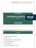 Lecture 01 - Introduction to GIS (Part - I)