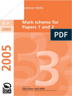 Key Stage 3 Ks3 Science MarkScheme 2005