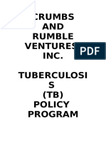 Crumbs and Rumble Tuberculosis Policy Program