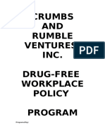 Sample Drug Free Workplace Policy Program
