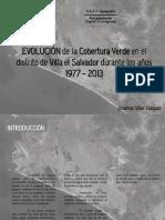 Evolución de la Cobertura Verde en el Distrito de Villa el Salvador durante los años 1977-2013