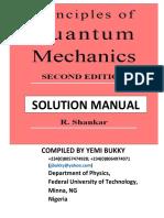 Shankar Quantum Mechanics Solution