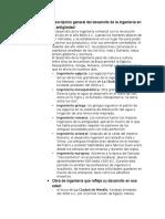 Descripción General Del Desarrollo de La Ingeniería en La Antigüedad