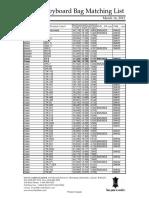 Keyboard Bag Matching List (2012)