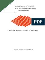 Pensum Escuela de Artes (Vigente Desde 2010-2)