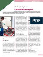 Für Industriedetektive und andere Chemiespürnasen.  Laborkoffer mit Kunststoff-Erkennungs-Kit.