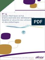 Guide de Comparaison Des-référentiels Qualité Et Sécurité Des Aliments Et Des Emballages