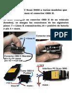 Conexión Del PC Scan 3000 a Varios Modelos Que No Tienen El Conector OBD II