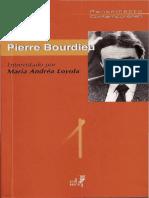 BOURDIEU, Pierre. Entrevista