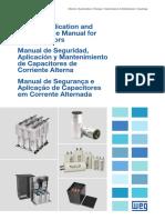 WEG Manual de Seguridad Aplicacion y Mantenimiento de Capacitores de Corriente Alterna 1024 Guia Instalacion Espanol