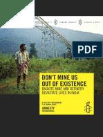 Amnesty International's Report on Niyamgiri
