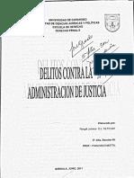 Delitos Contra La Adm. de Justicia - Prof. Francisco Motta (Venezuela)