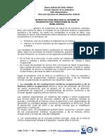Instrucciones Realizar Informe Diagnostico Condiciones de Salud