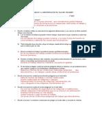 LOS ACCIDENTES DE TRABAJO. Examen+Soluciones