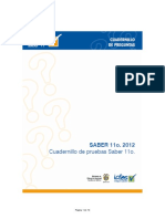 Cuadernillo de Pruebas de Quimica Saber 11 2013 (1) (1)