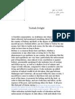Turkish Delight ( Translated)