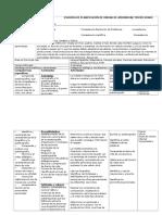 Esquema de Planificación de Unidad de Aprendizaje Tercer Grado