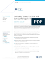 IDC White Paper Delivering Enterprise Value With Service Management