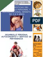 Características Del Desarrollo Personal y Socioemocional Infantil de 3 a 5 Años