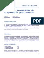 Prog_Herramientas de Programacion Para Finanzas 2012