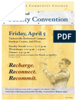 faculty convention poster