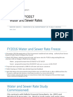Water Sewer Rate Presentation for April 13, 2016