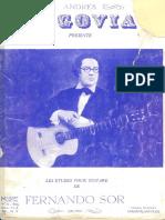 Fernando Sor Estudios (Andres Segovia Edicion)