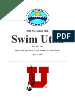 swim utah marketing research plan