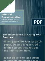 internal documentation