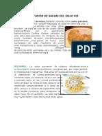 9. Clasificación de Salsas Del Siglo Xix y Xx