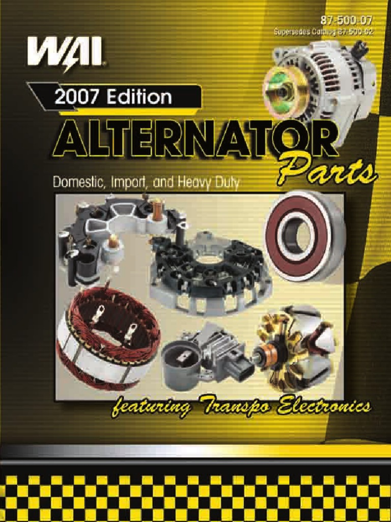 Alternator Catalog WAI | Screw | Electrical Components
