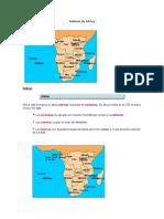 Relieve de Africa y Asia