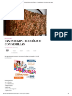 Pan Integral Ecológico Con Semillas - Barcelona Alternativa