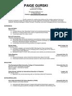 paige gurski official resume