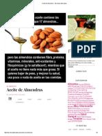 Aceite de Almendras - Barcelona Alternativa