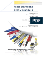 Strategic Marketing Plan for Dollar 2016