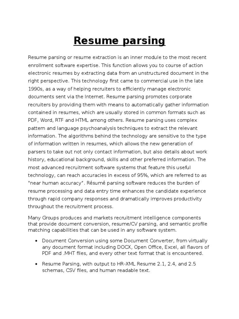 home and about us 500 words docx résumé parsing